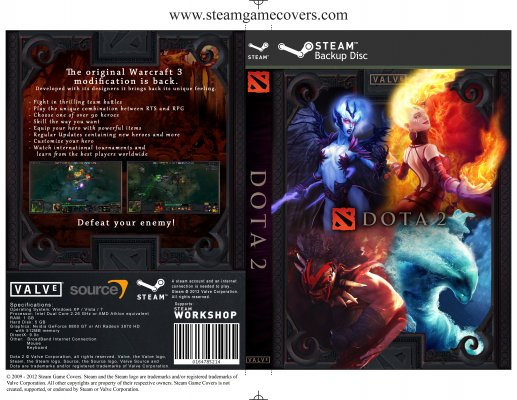 Steam Game Covers Dota 2 Box Art