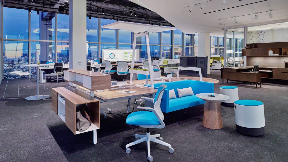 Turnstone Bivi Modern Office Desk System Steelcase