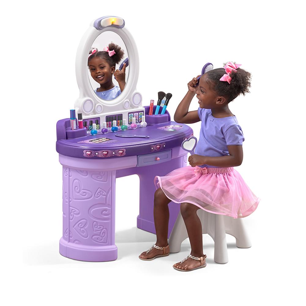 pretty posh vanity with stool