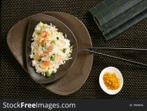 Nasi Goreng With Pork Stripes And Chopsticks - Free Stock Images & Photos -  7908844 | StockFreeImages.com