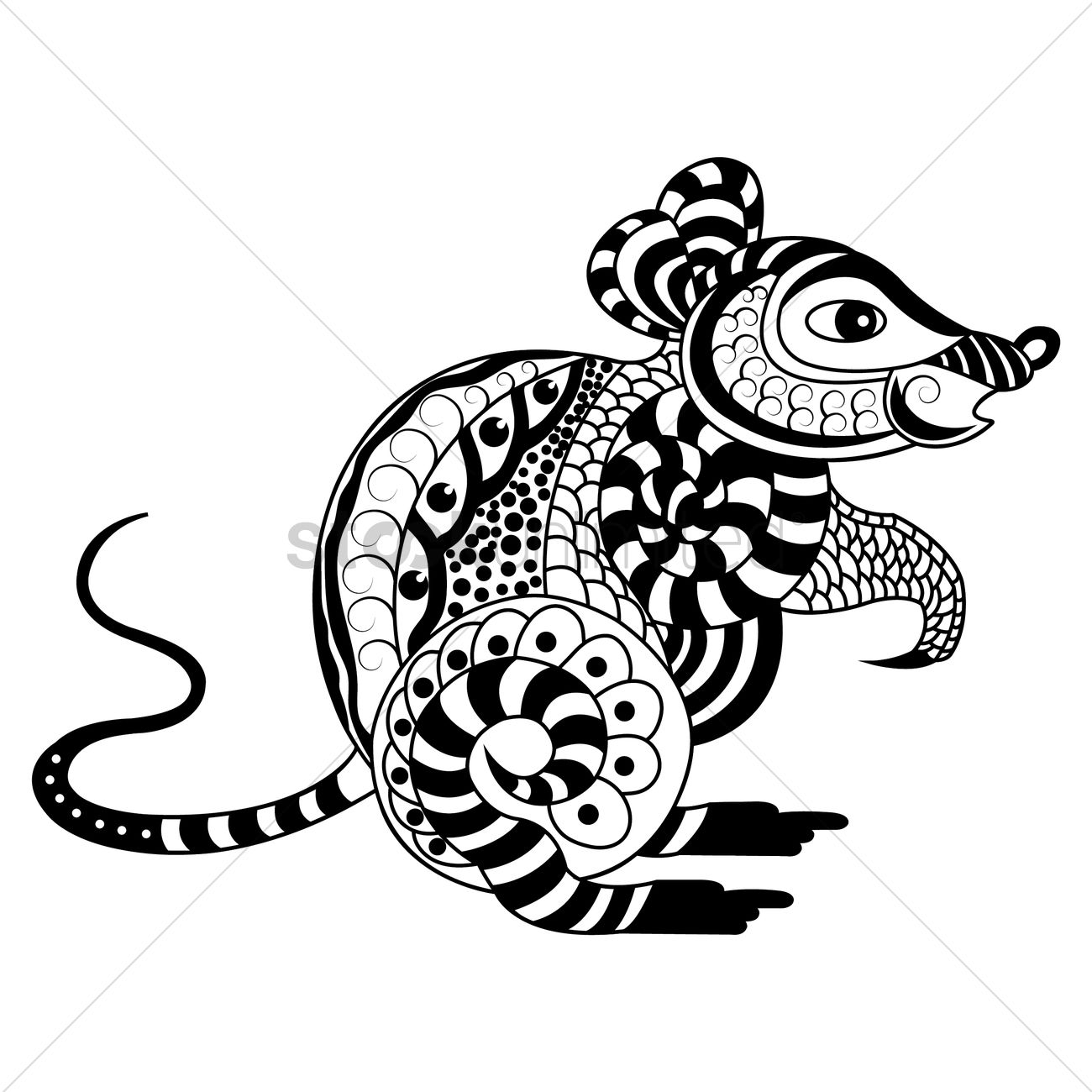 Decorative Rat Design Vector Image