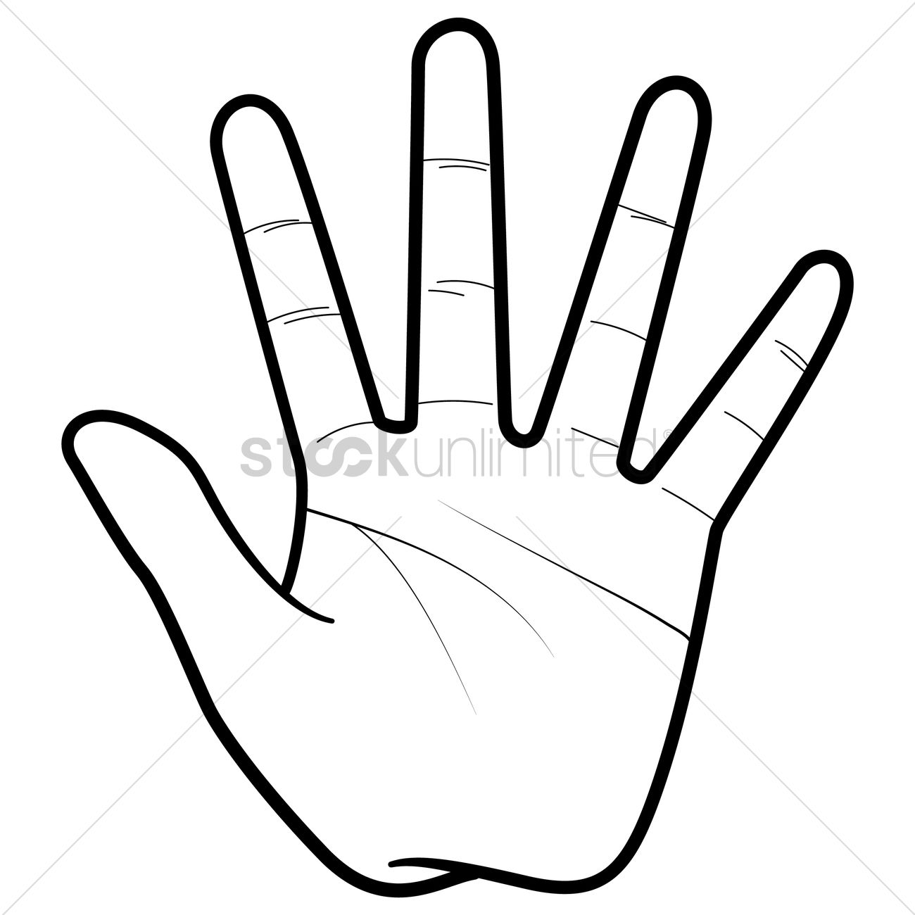 Hand Palm Vector Image