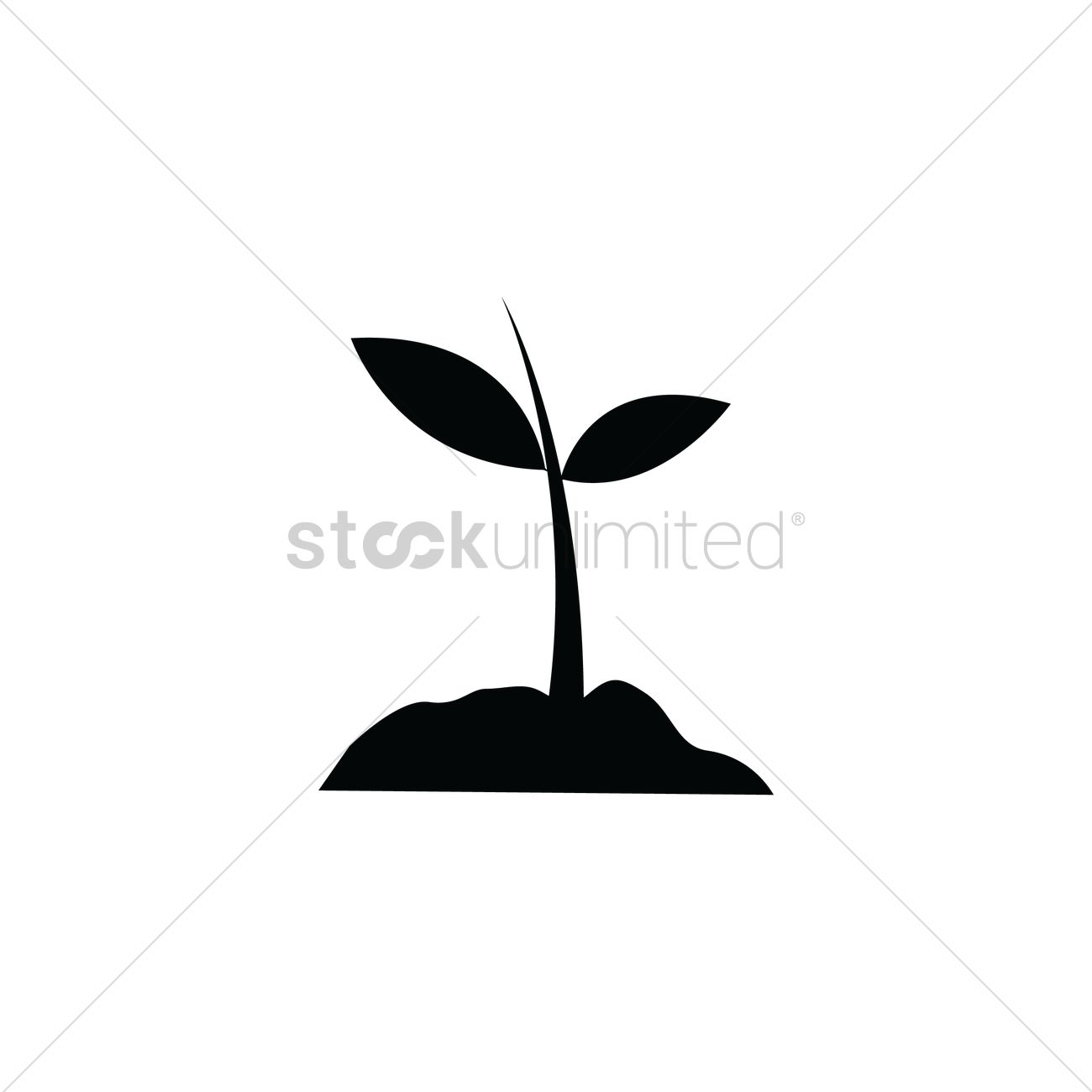 Silhouette Of Plant Vector Image