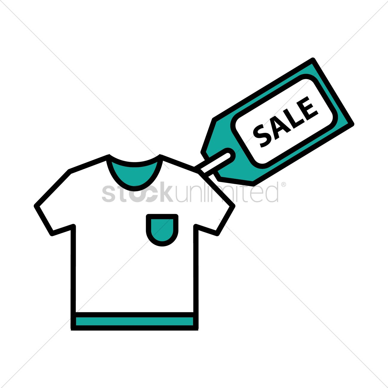 T Shirt With Sale Tag Vector Image
