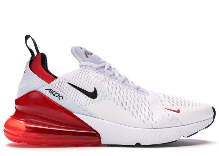 nike air max 270 white black university red