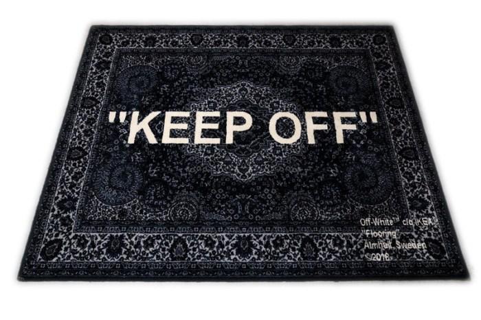 virgil abloh x ikea keep off rug 133x195 cm black white