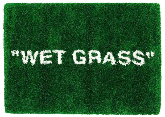 virgil abloh x ikea markerad wet grass rug 195x132 cm green
