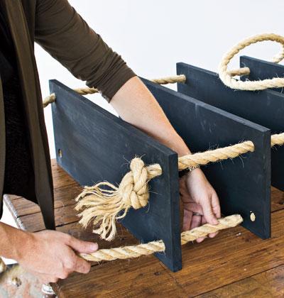 6 bước đơn giản tự làm kệ treo tường vintage - Archi