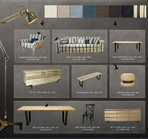Không gian sang trọng với bộ sưu tập nội thất JoJo - Archi