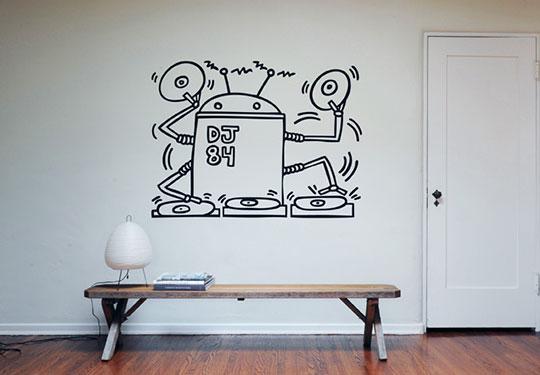 Giấy dán tường họa tiết vui nhộn của Keith Haring - Archi