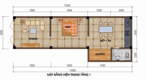 Cải tạo căn hộ 33m2 có gác xép cho 2 cặp vợ chồng - Archi