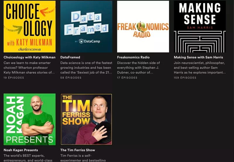 Podcasts I'm listening to these days