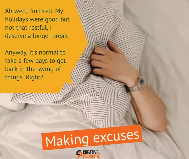 Just show up, making excuses, part 1
