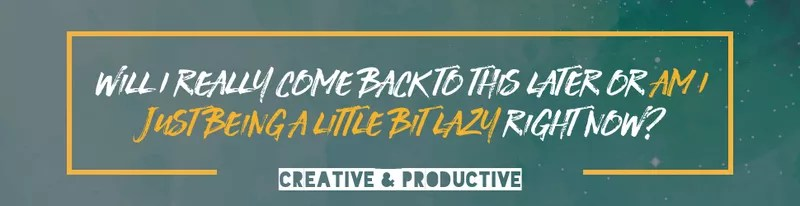 Taking things for granted - am I just being a little bit lazy right now