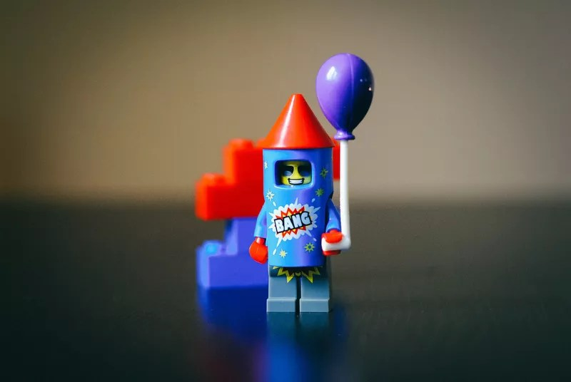 40 years of Lego Minifigures marks Series 18 and the party 'figs. Here's Firework Guy.