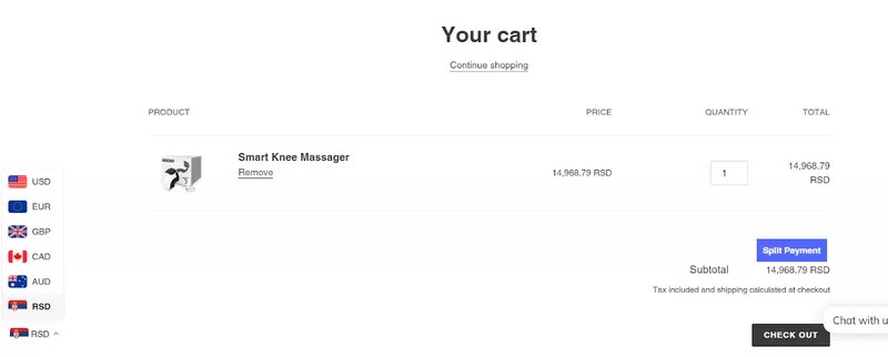 Ecommerce CRO tips: Currency Converter
