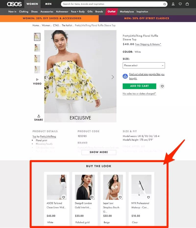 Vitals Shopify Upsell - ASOS Buy the look