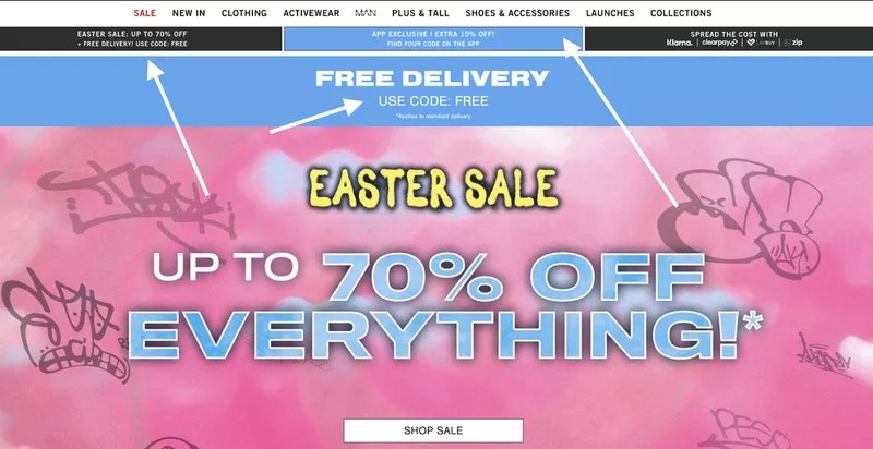 offering too many discounts e-commerce