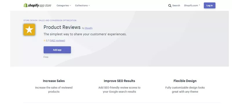 Shopify Product Reviews App