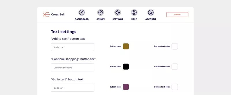 Cross Sell Related Products — Text settings