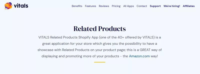 Vitals: Related Products (+40 Additional Apps)