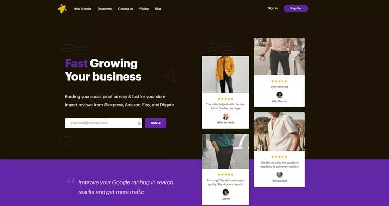 Ryviu: Product Reviews App UGC homepage