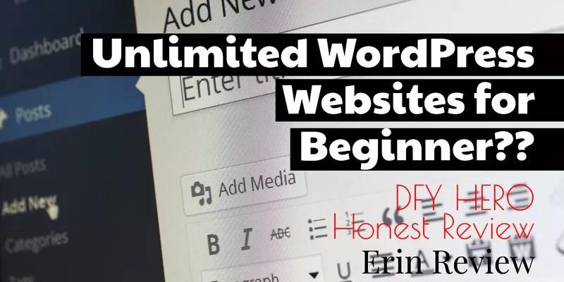 DFY HERO Honest Review-WordPress