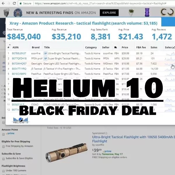 Helium 10 black friday