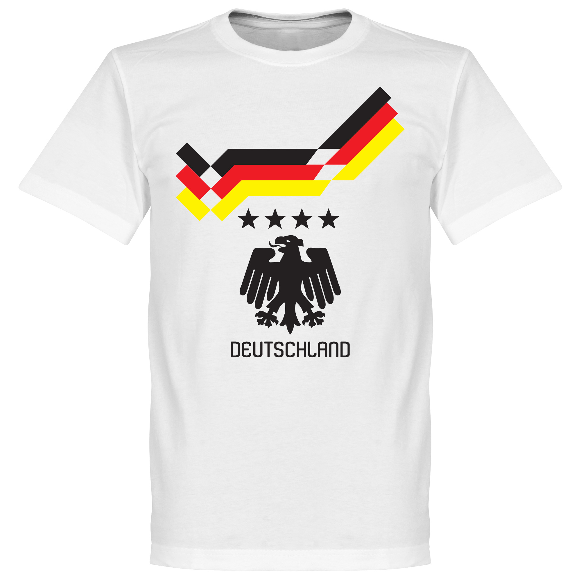 1990 Germany 4 Star Retro Tee - White - L