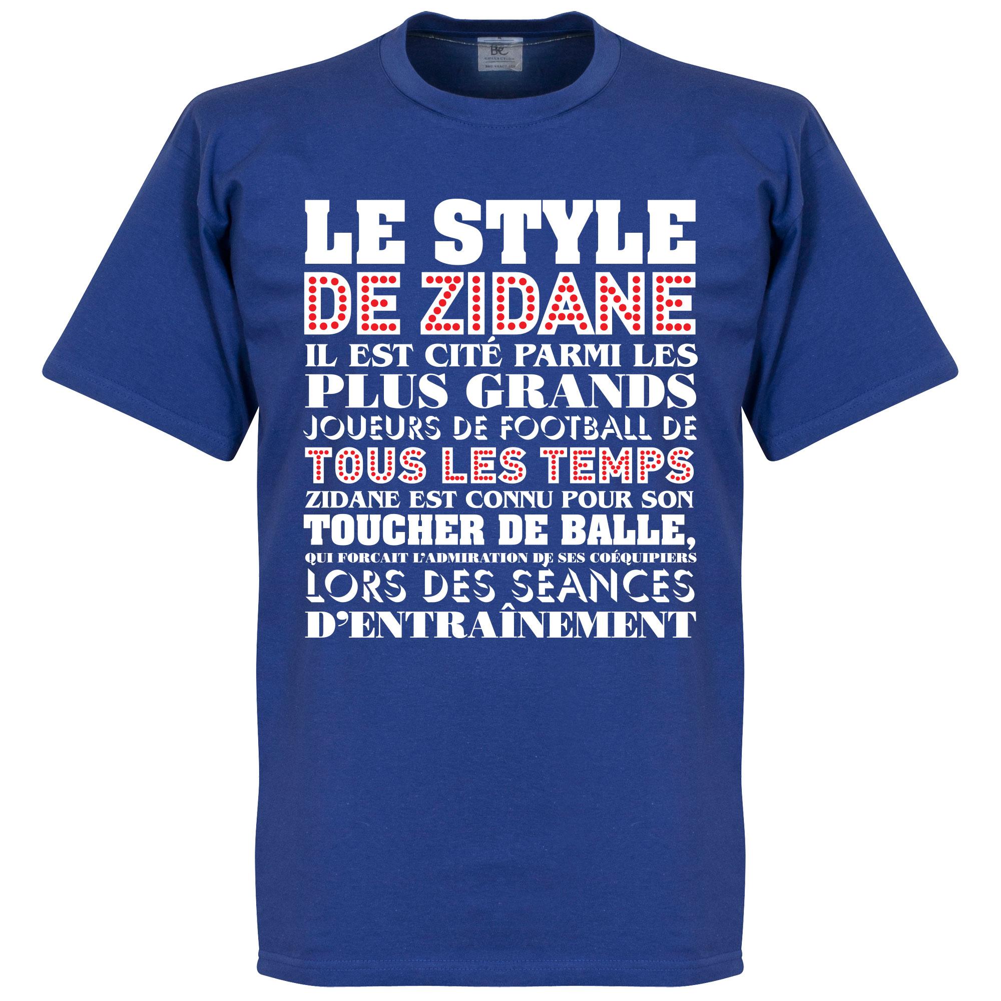 Le Style De Zidane Tee - Royal - XXXL