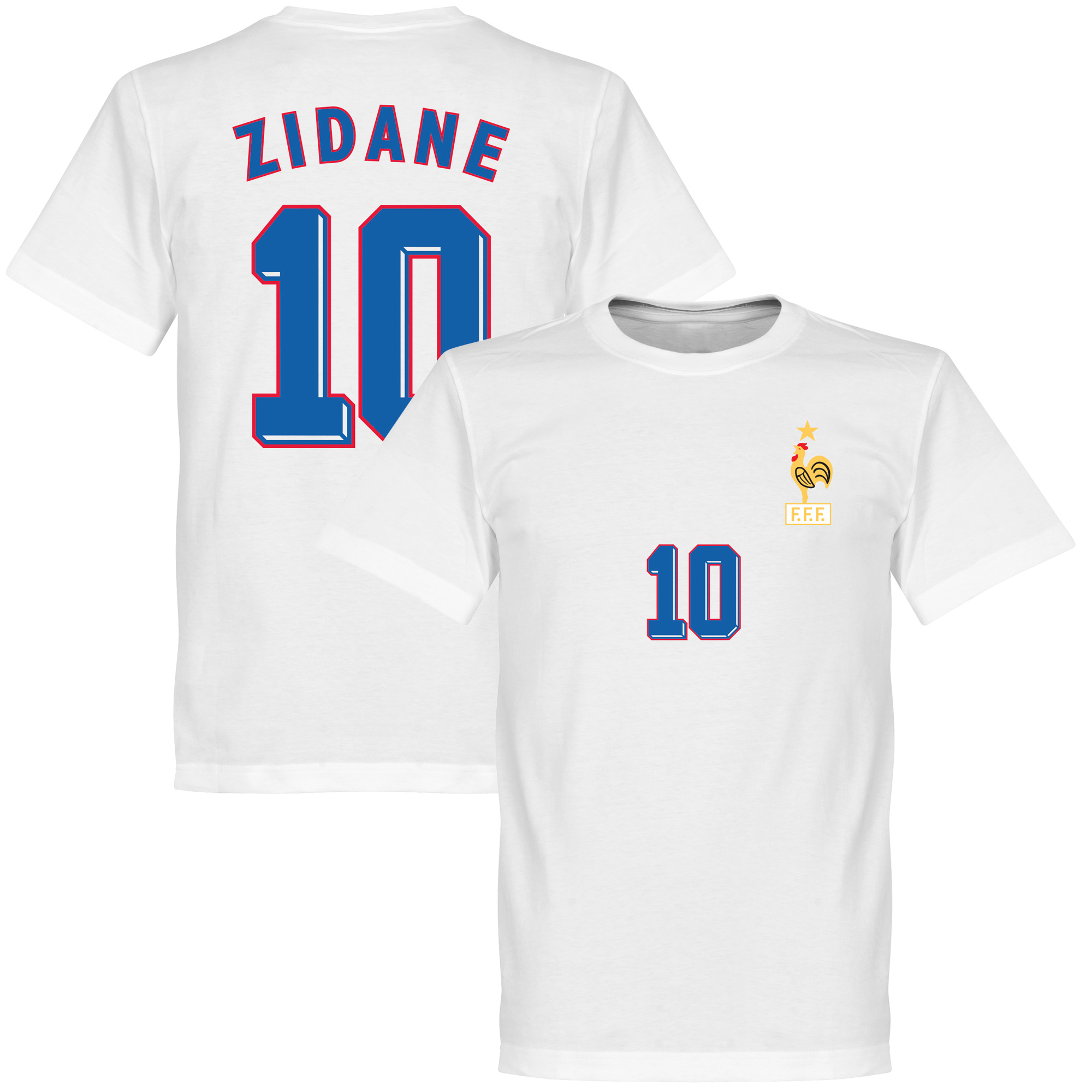 Zidane 1998 Away Tee - White - XXXXL