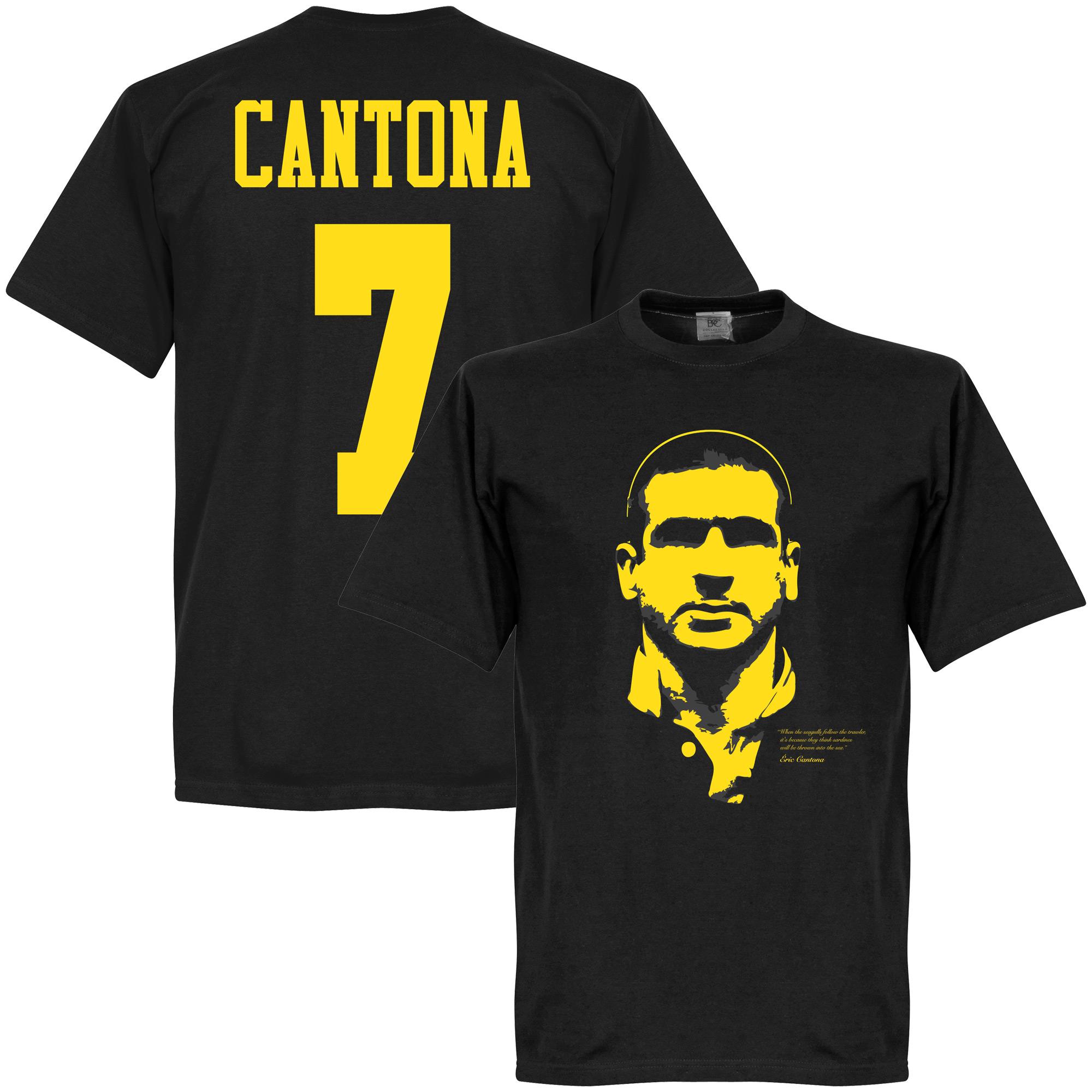 Cantona Silhouette Tee - Black - XXXXXL