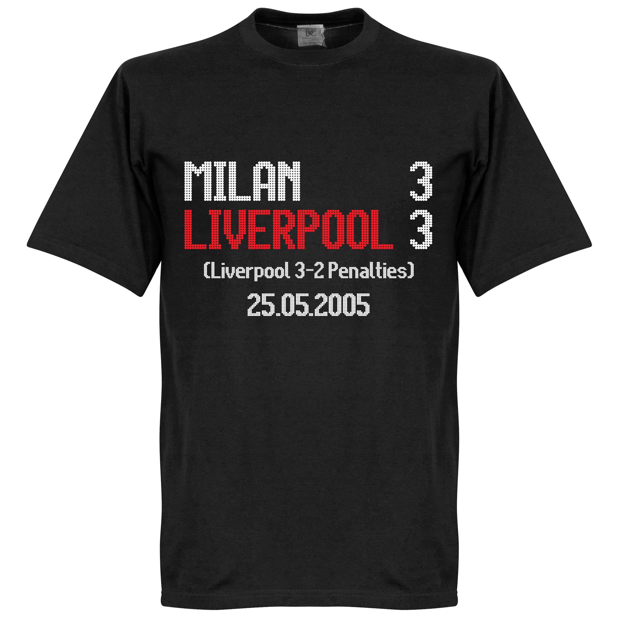 Milan 3 : Liverpool 3 Scoreboard Tee - XS