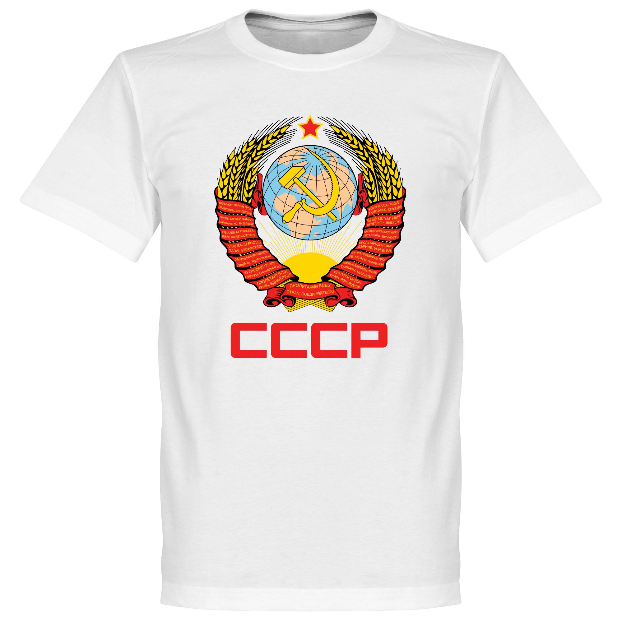CCCP Crest Tee - White - L