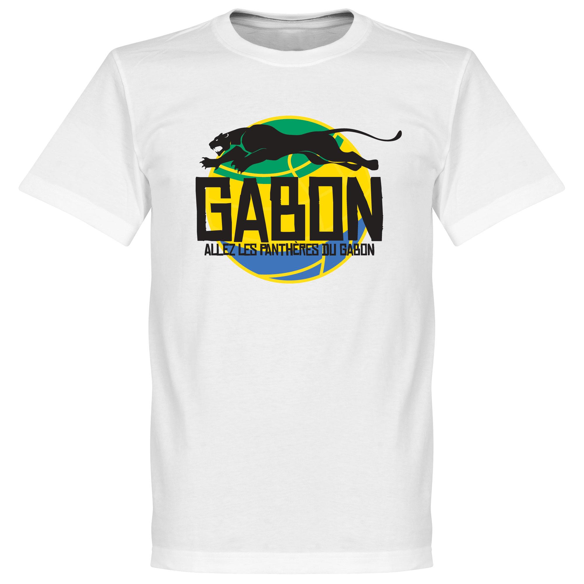 Gabon Logo Tee - White - L