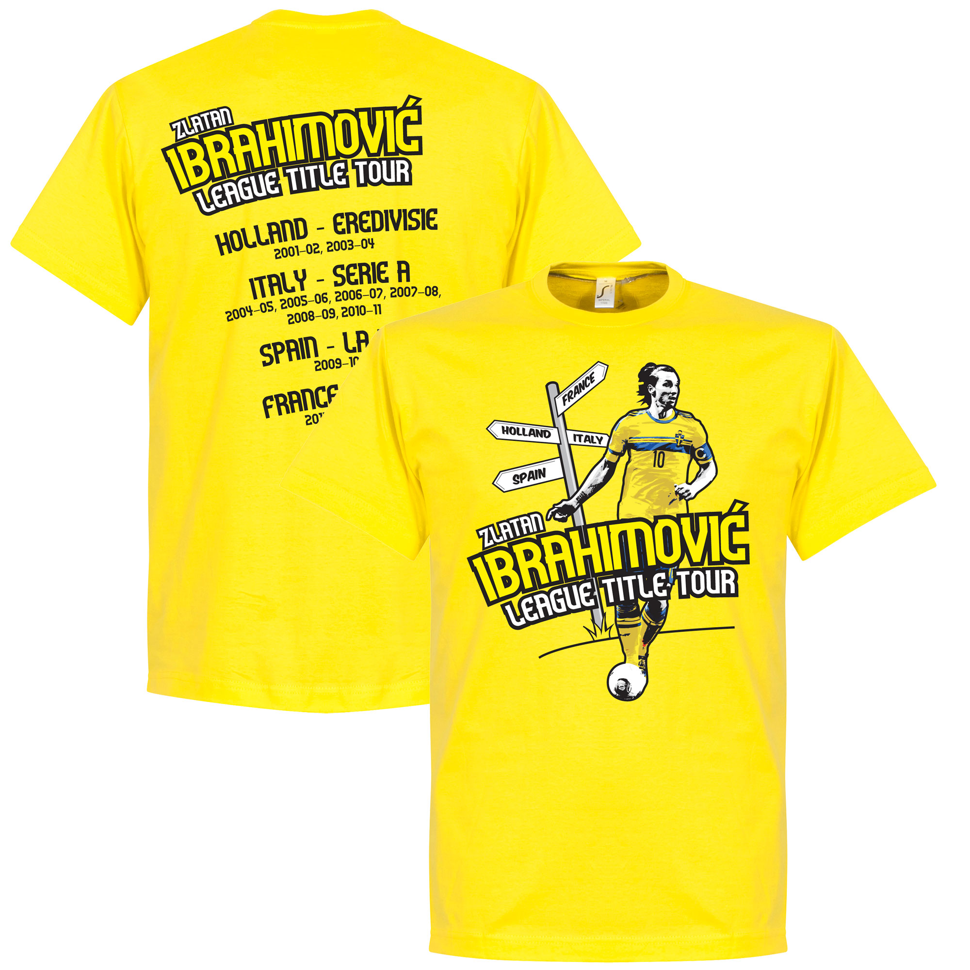 Zlatan Ibrahimovic Tour Tee - Yellow - XXL