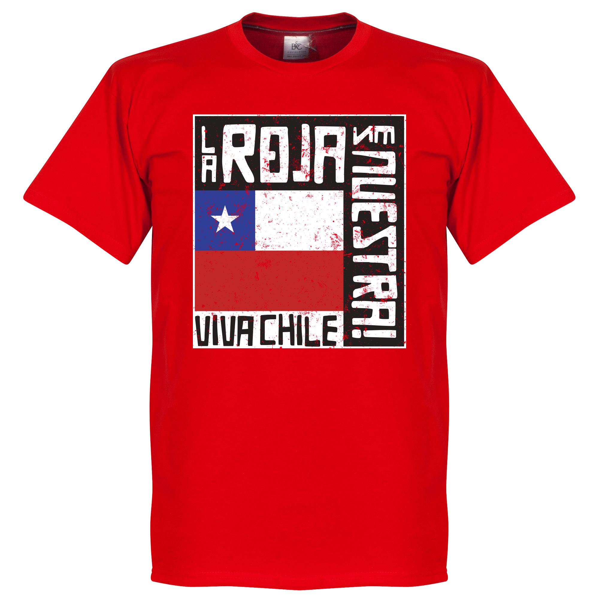 Chile La Roja Es Nuestra Tee - Red - S