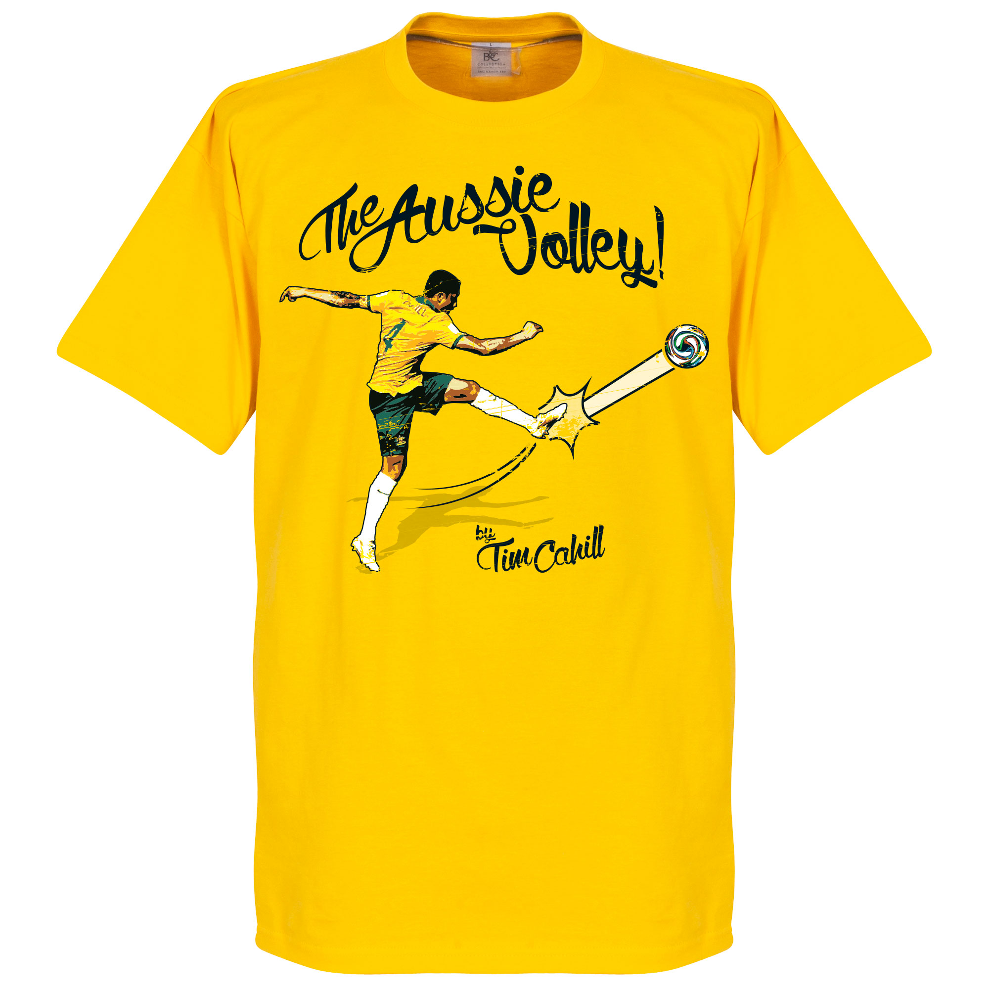 Tim Cahill The Aussie Volley Tee - Yellow - XS