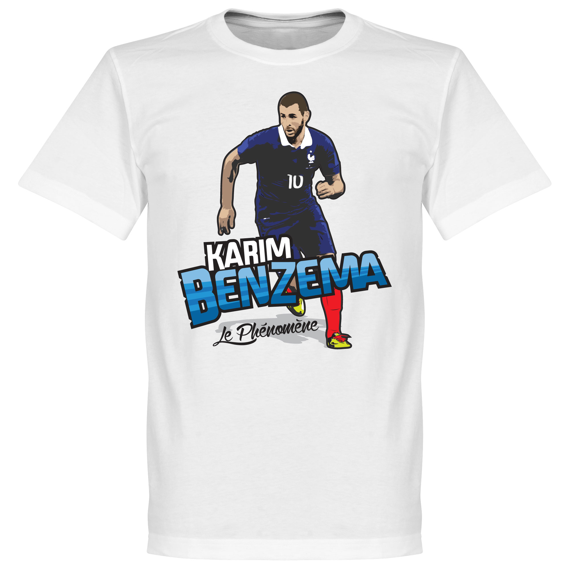 Karim Benzema La Phenoméne Tee - White - XL