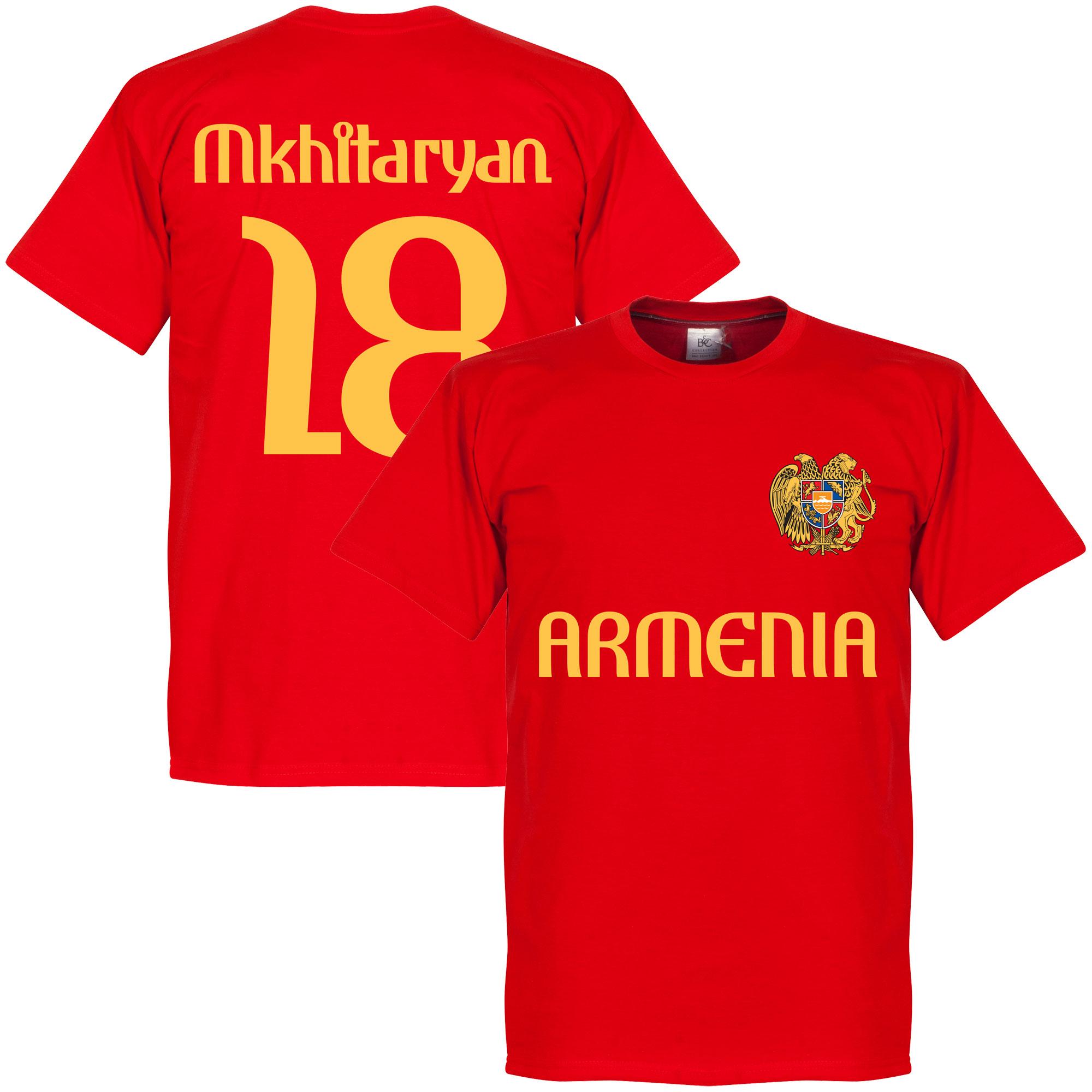 Armenia Mkhitaryan 18 Tee - Red - L