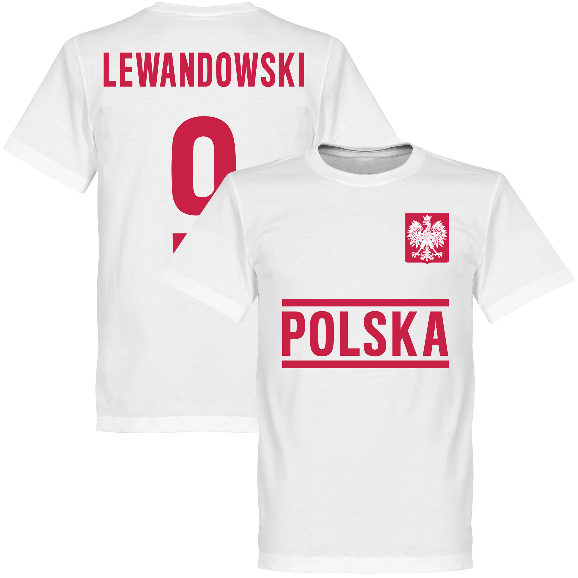 Poland Lewandowski Team Tee - White - L