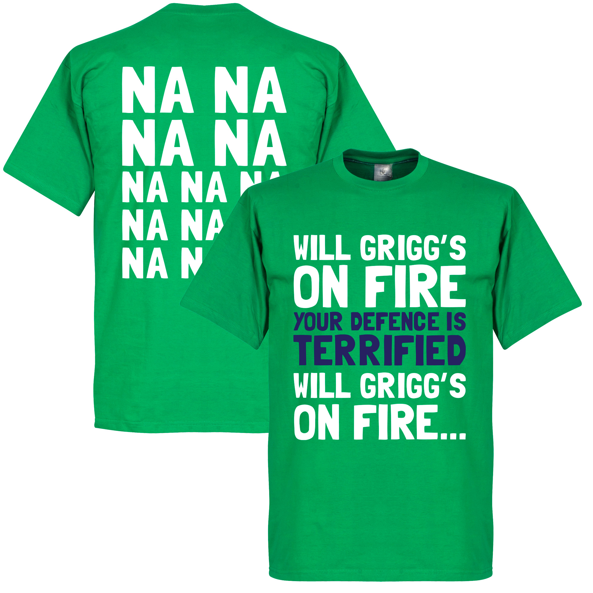Will Grigg's on Fire Tee - Green - XS