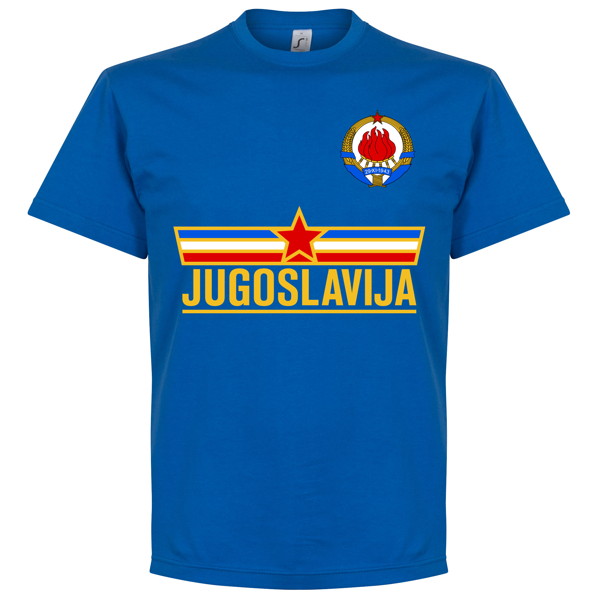 Yugoslavia Team Tee - Royal - XL