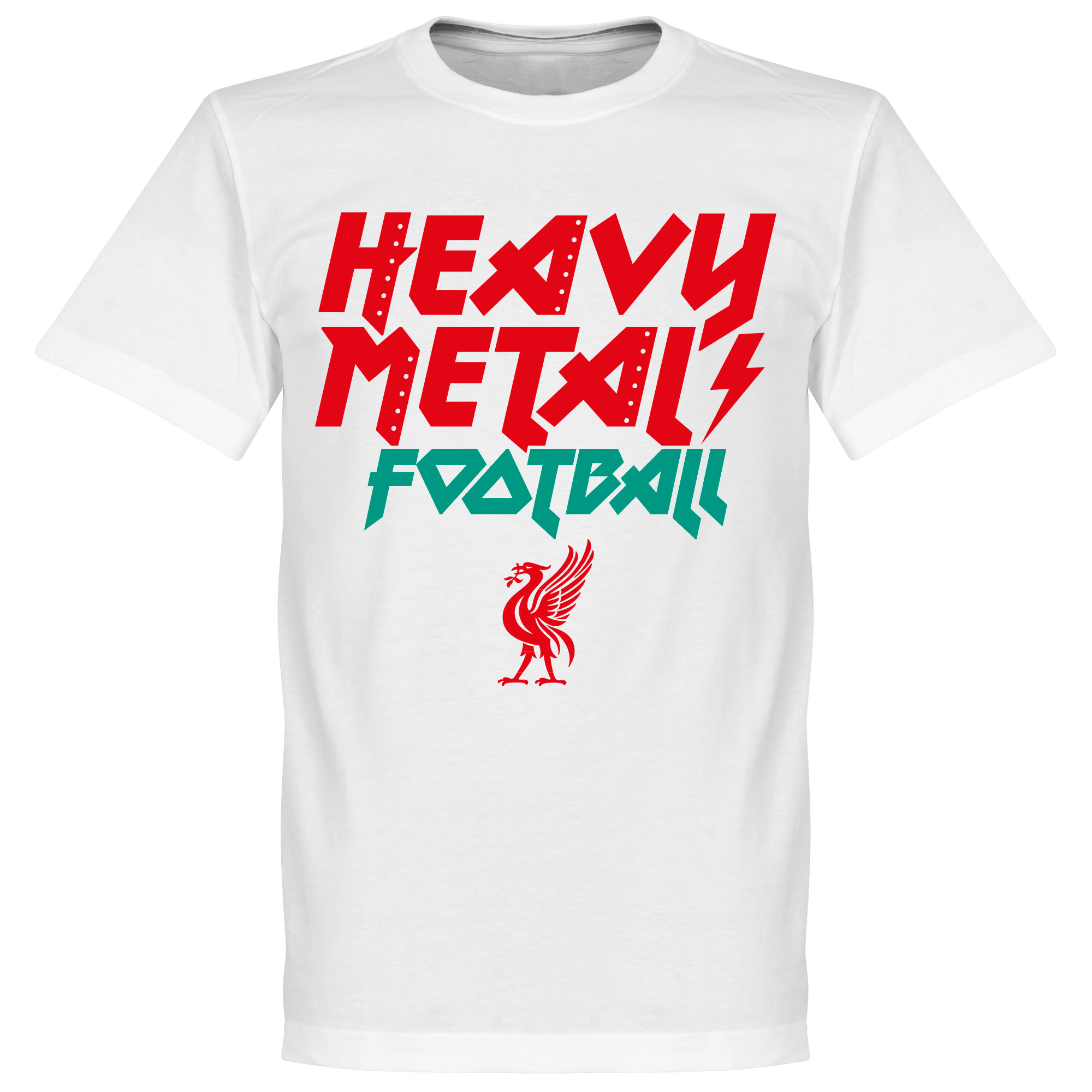 Heavy Metal Football Tee - White - XS