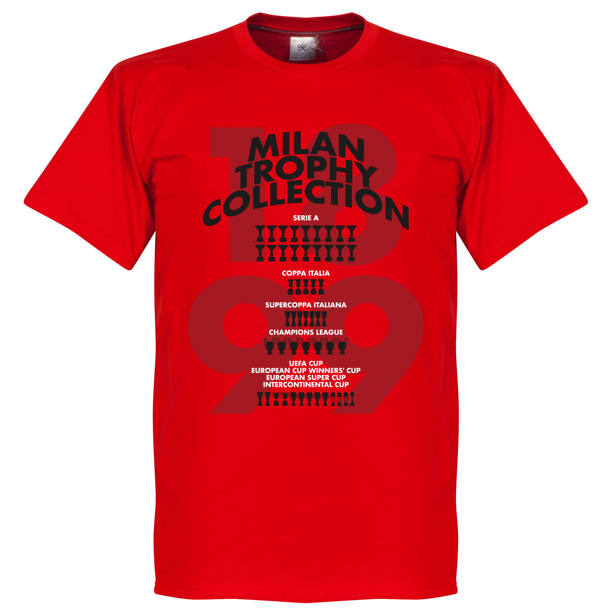 Milan Trophy Collection Tee - Red - XXL