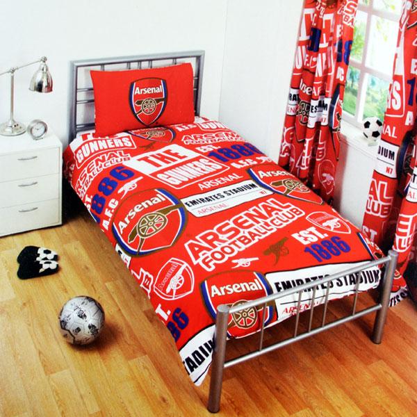 Arsenal Patch Single Duvet (Duvet 135cm x 200cm - Pillow Case 50cm x 75cm) - OS