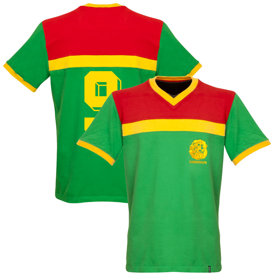 1989 Cameroon Retro Shirt + No 9 - L