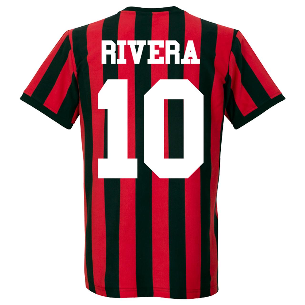1960's AC Milan Home Retro Shirt + Rivera 10 - S
