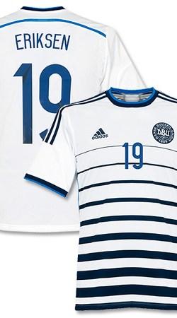 Denmark Away Eriksen Jersey 2014 / 2015 - 62