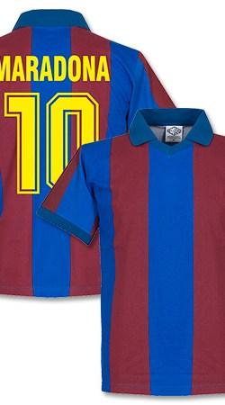 1980's Barcelona Home Retro Maradona Shirt - Collared - M
